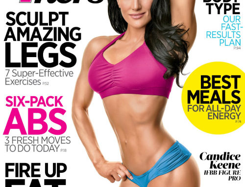 Muscle & Fitness Hers, Sept./ Oct. Cover, Feat. our Ezieza Bra Top